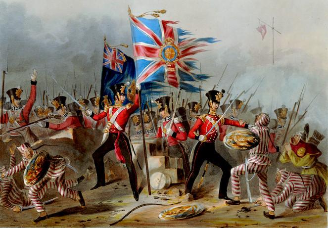 18世紀のアイルランド軍の絵画