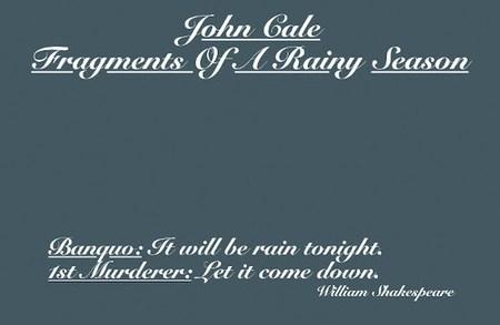 john cale fragments of a rainy season recensione