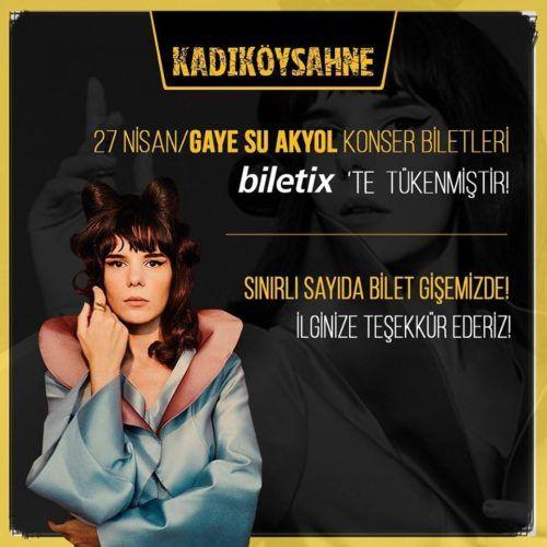 Gaye Su Akyol live