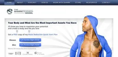 The Model Health Show web page