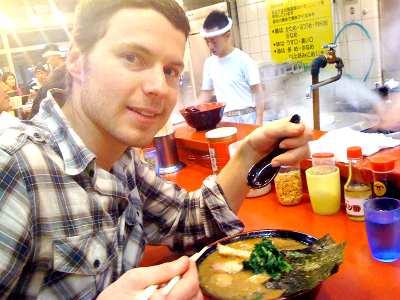 海外の人-日本食-ラーメン