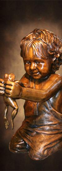 Figurative bronze sculptures of adults lifesize bronze