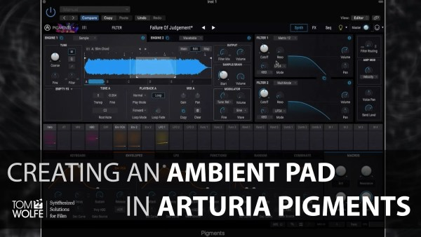 How to create an ambient pad in Arturia Pigments