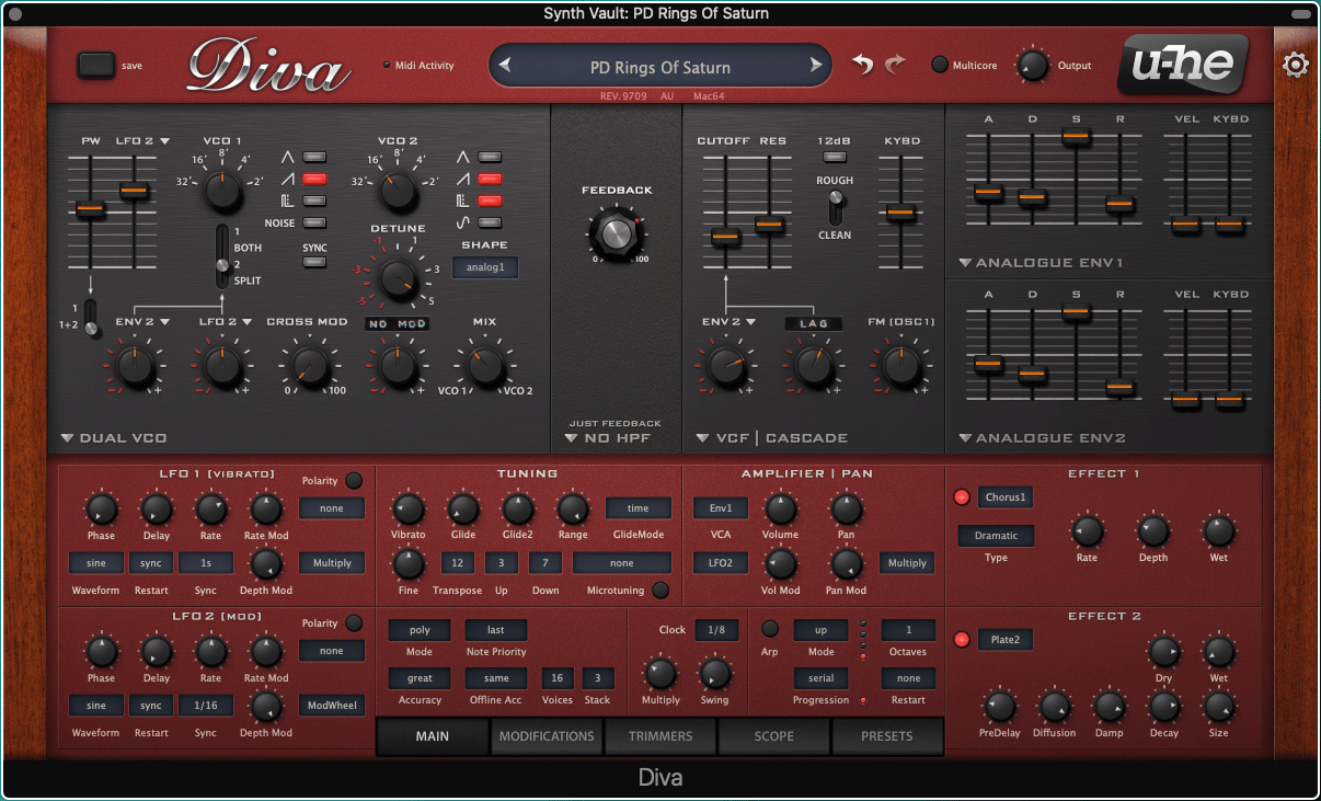 Synth Vault: Free Presets for U-he Synths