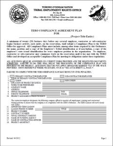 TERO Compliance Plan