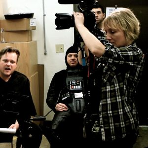 Tona Williams on the set of Chad Vader