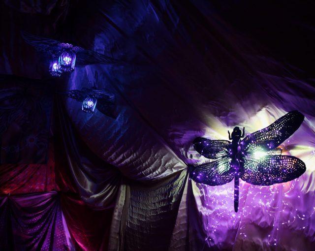 SQUISH sculptural lighting installation by Tona Williams