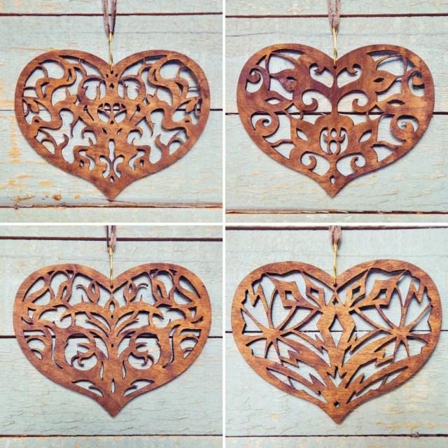 """""""I Share My Heart"""" ornaments by Tona Williams"""