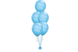 Helium balloon bouquet stamped It's a boy