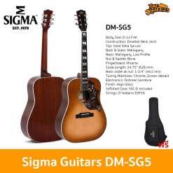 Sigma Guitars DM-SG5 Acoustic Guitar กีต้ารโปร่ง กีต้าร์อคูสติก