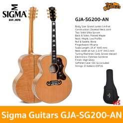 Sigma Guitars GJA-SG200-AN Acoustic Guitar กีต้ารโปร่ง กีต้าร์โปร่งไฟฟ้า กีต้าร์อคูสติก กีต้าร์อคูสติกไฟฟ้า