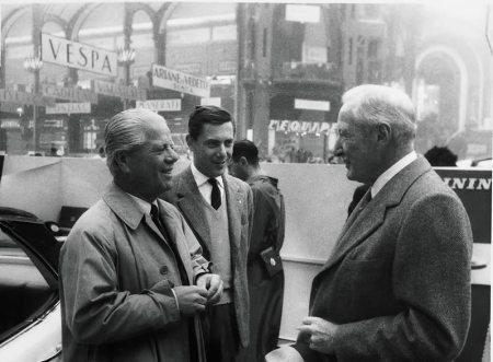 Battista – Pinin – Farina con il figlio Sergio ed Harlow H. Curtice Presidente della General Motors Corp.