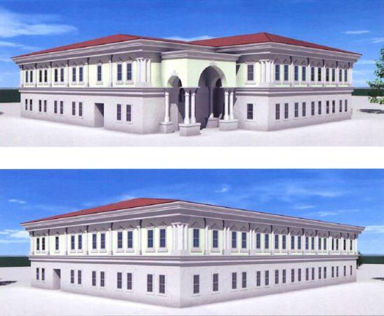 Nuova base Usa di Vicenza: rendering edifici del quartiere generale di battaglione; cortesia  vagapuntoinfo.wordpress.com