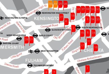 London westlisting map