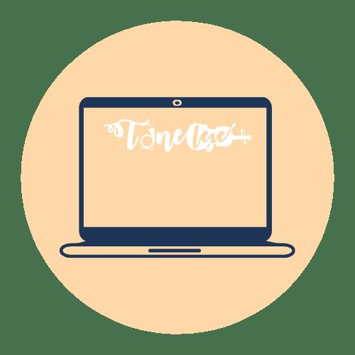 Illustration af bærbar computer