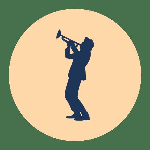 Illustration af trompetist