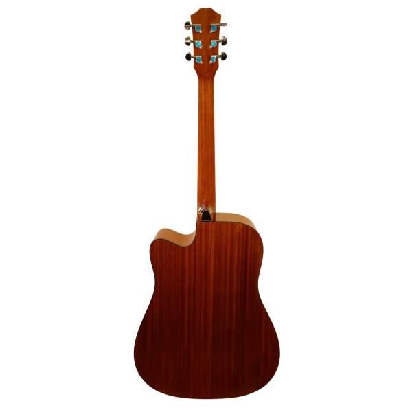 Bagsiden af western guitar