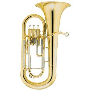Produktbillede af en euphonium med messinglak med hvid baggrund