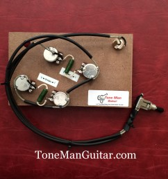 es175 es295 gibson or epiphone prebuilt 50 s wiring harness kit pio vintage caps [ 2448 x 2448 Pixel ]