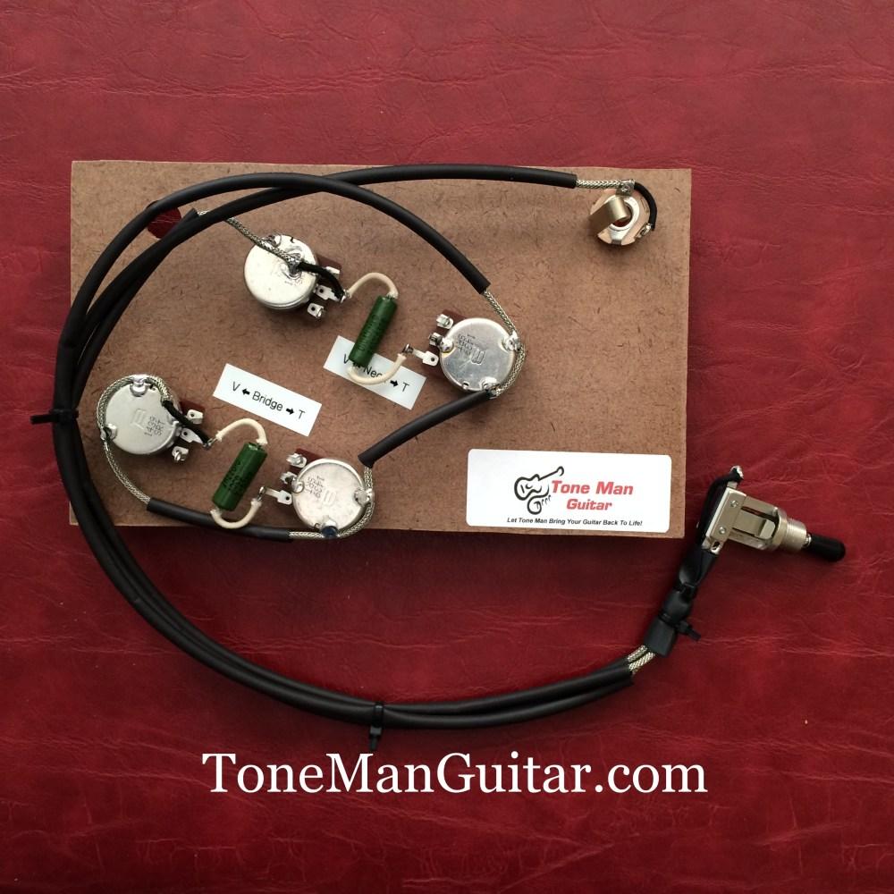 medium resolution of es175 es295 gibson or epiphone prebuilt 50 s wiring harness kit pio vintage caps