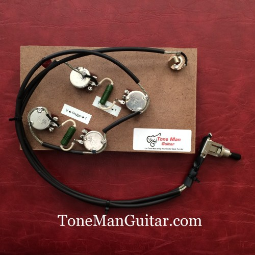 small resolution of es175 es295 gibson or epiphone prebuilt 50 s wiring harness kit pio vintage caps