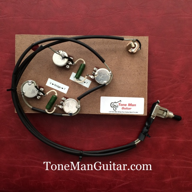 wiring diagram for les paul style guitar 2004 honda civic engine tone man improvement upgrade kits vintage 50s