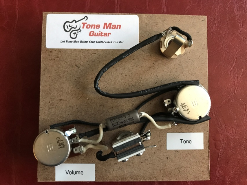 wiring diagram for les paul style guitar leviton switches installation tone man improvement upgrade kits vintage 50s epiphone special prebuilt harness pio cap
