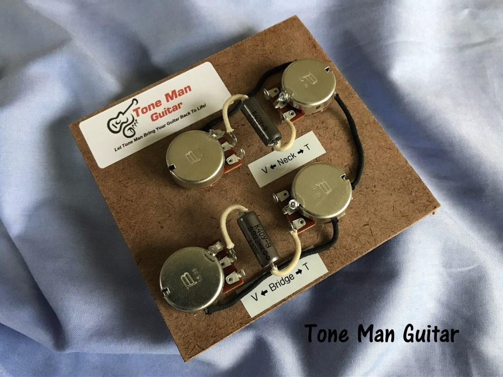 medium resolution of guitar upgrade wiring harness fits gibson epiphone firebird short shaft pots
