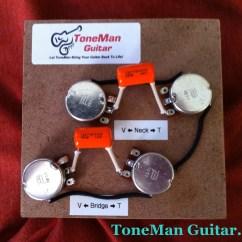 Les Paul 50s Wiring Diagram Caterpillar Vr6 Tone Man Guitar Prebuilt Kit Short Shaft Pots