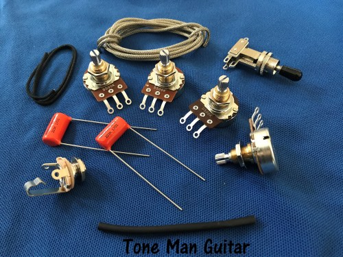 small resolution of epiphone gibson upgrade wiring kit short shaft pots orange drop tone caps 3 way switch