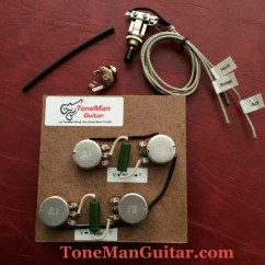 50 S Style Les Paul Wiring Diagram Generator Pdf Upgrade Guitar Harness Kits Gibson Epiphone Fender The Blues Prewired 50s Short Shaft Pots Pio Tone Caps With 3 Way Switch