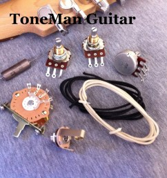 stratocaster eric johnson upgrade kit with pio cap 5 way switch and wire  [ 3427 x 2560 Pixel ]