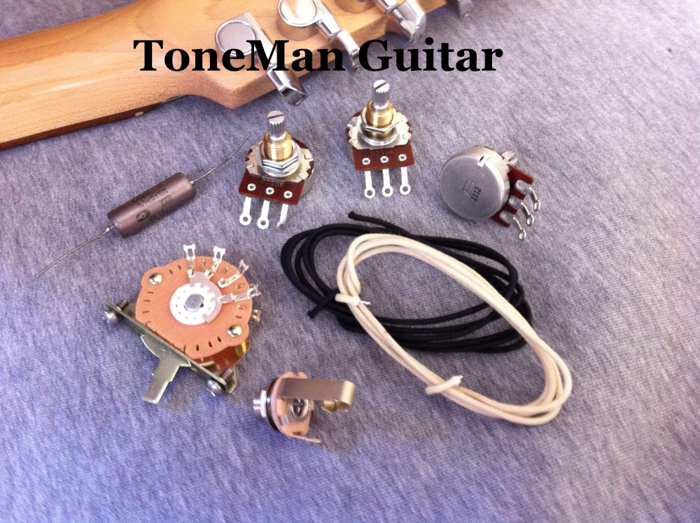 medium resolution of stratocaster eric johnson upgrade kit with pio cap 5 way switch and wire
