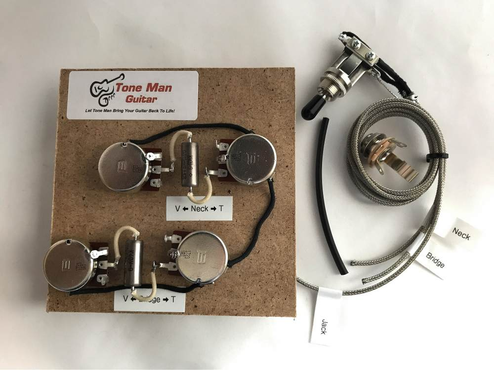 medium resolution of gibson le paul prewired 50 wiring harnes long shaft