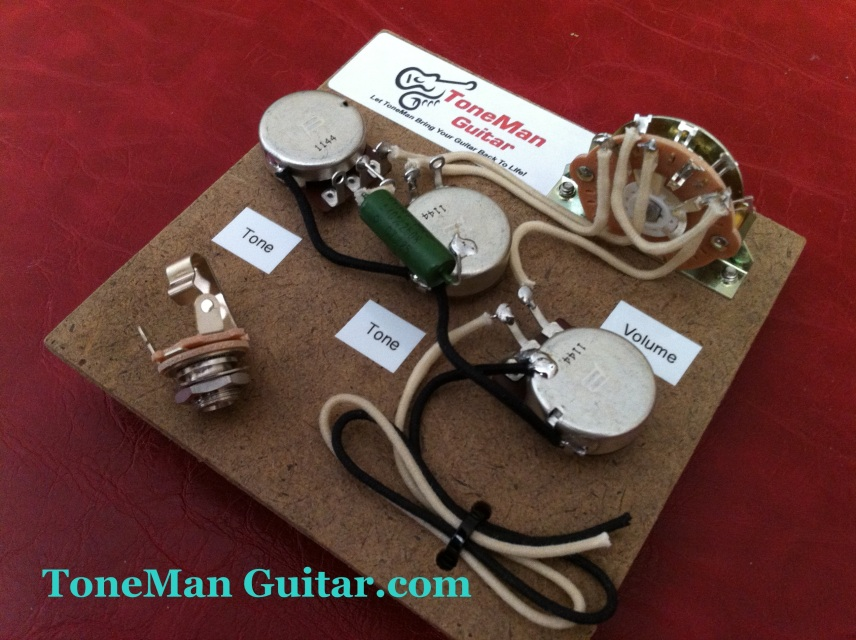 guitar wiring diagram 5 way switch stereo mini plug stratocaster prebuilt kit pio tone cap bourn 250k pots cloth