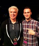 Hanan with the almighty David Byrne