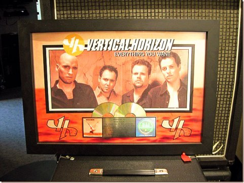 Vertical Horizon RIAA Double-Platinum Award