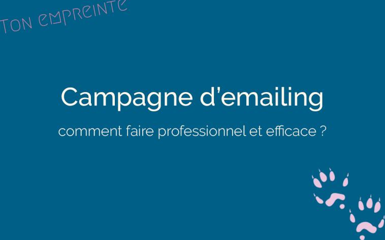 créer une campagne d'emailing - ton empreinte