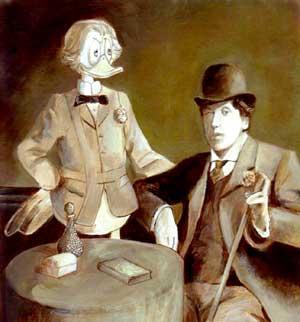 Oscar Wilde con un amico