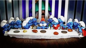 Last supper smurf