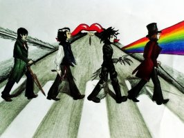strange_abbey_road_by_margheritadavoli-d5c6hlo