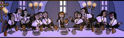 27052015: Ultima cena Sister Claire's Last Supper by Yamino