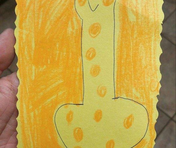 Bambini che disegnano peni senza volere_ Giraffa