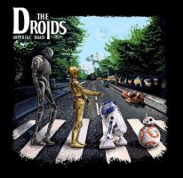 Abbey Road parody Star wars The droids