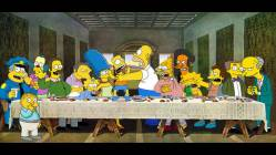 01092017: Ultima cena parodia Simpson