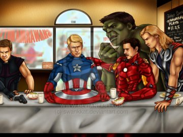 the avengers last supper