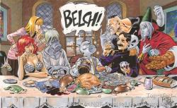 15122017: Ultima cena Keith Stevenson Fried Meat Last supper