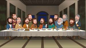 last supper parody family guy