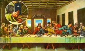 Last supper parody phone