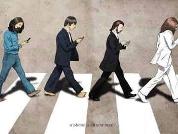 abbey road parody phone